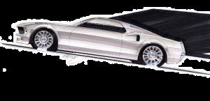 1969 Mustang Sketch