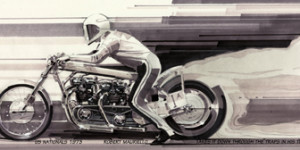 Triumph Drag Bike - 12 x 36